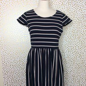 Modcloth striped maxi dress NWT